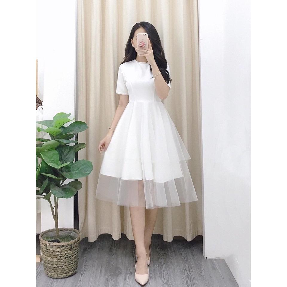 Đầm công chúa 3 tầng cách điệu