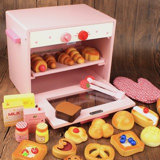 Bread Oven has seen home wooden children's Toy kitchen kitchenware set 1-2-34 ye