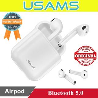 Tai nghe Bluetooth không dây Airpod Usams US-LQ001 ♥️Freeship♥️ Giảm 30k khi nhập MAYT30 - Tai nghe không dây chính hãng