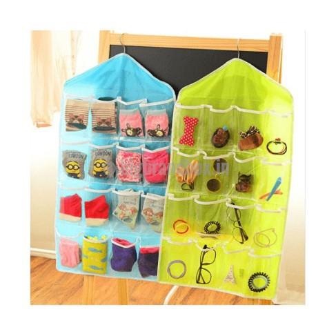 Túi treo đồ 16 ngăn tiện ích dùng cho phòng bếp, treo quần áo gia đình
