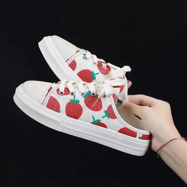 [Hàng Sẵn ] Giày sục thể thao quả dâu tây Cao Cấp