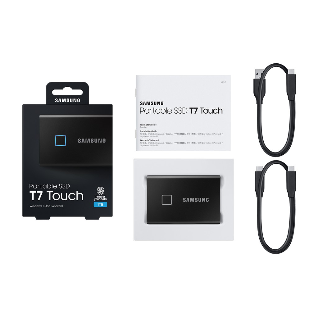 Ổ cứng di động SSD Portable Samsung T7 Touch 1TB - USB 3.2 Gen 2 (MU-PC1T0)