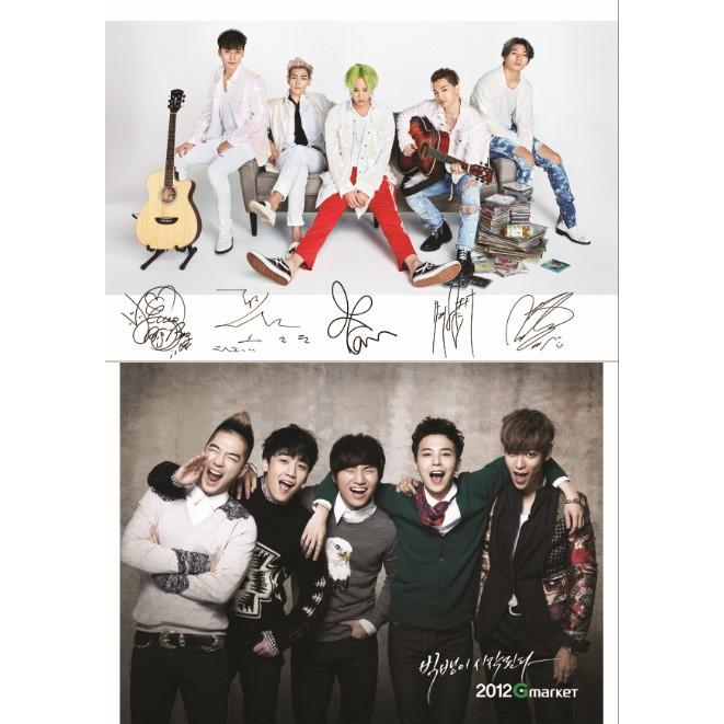 Poster khổ A5 nhóm nhạc BIGBANG full 10 ảnh (CÓ IN THEO YÊU CẦU)