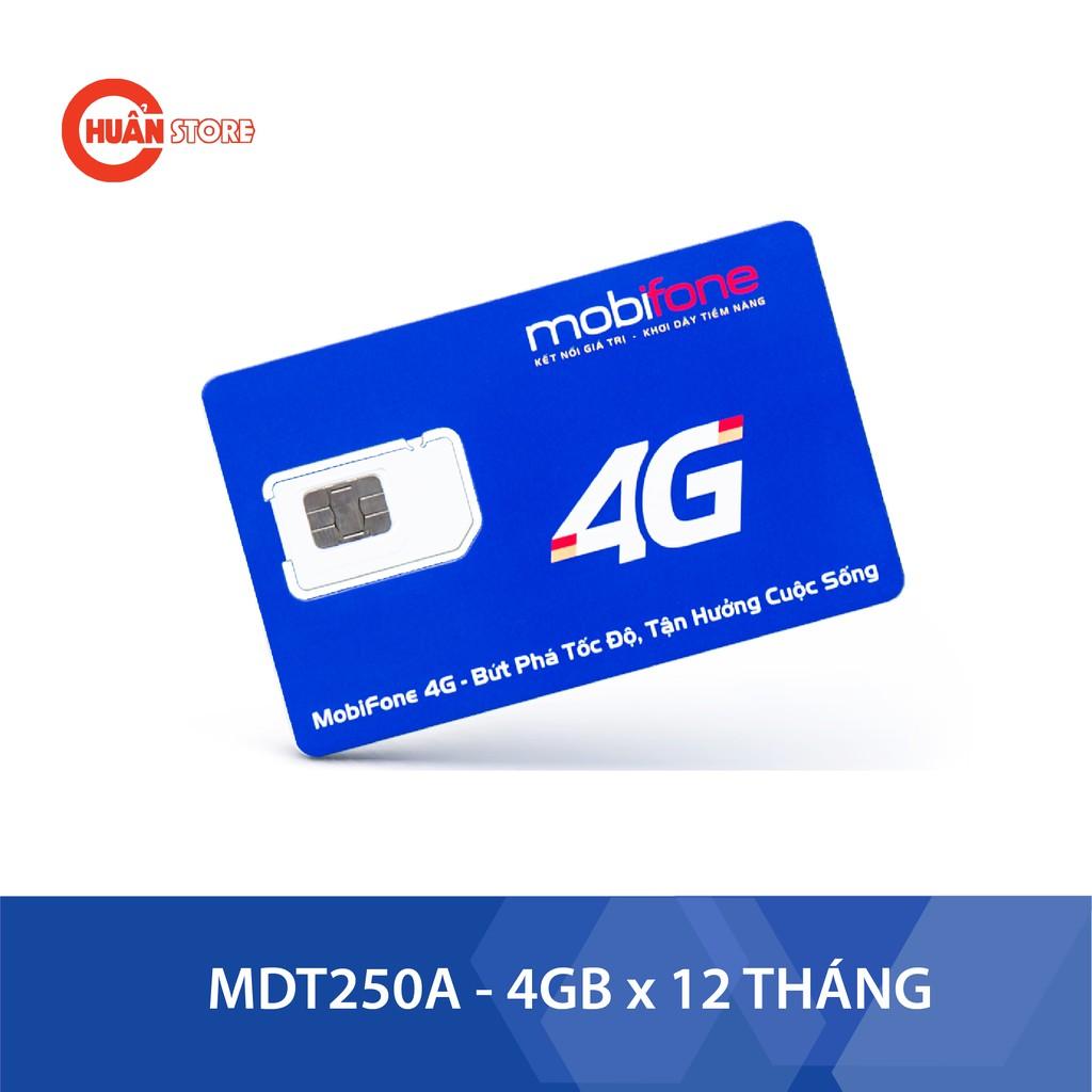 Sim 4G Mobifone MDT250A trọn gói 1 năm không nạp tiền