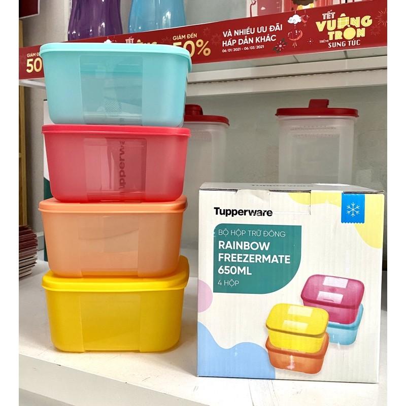 set hộp trữ đông 4 rainbow / 6 / fit set 7 / 8 hộp tách đông 16 tupperware