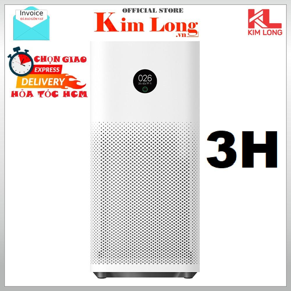 [Hỏa tốc HCM] Máy lọc không khí Xiaomi Air Purifier 3H Bản quốc tế, lọc bụi 0.3μm, khử mùi, FJY4031GL - BH 12 tháng