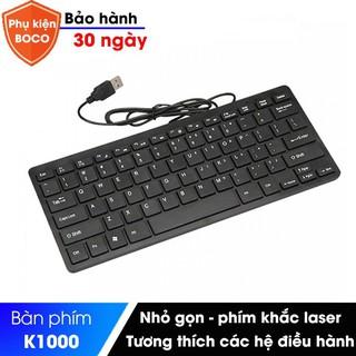 Bàn phím máy tính mini K1000 nhỏ gọn, kết nối cổng USB tương thích mọi hệ điều hành thumbnail