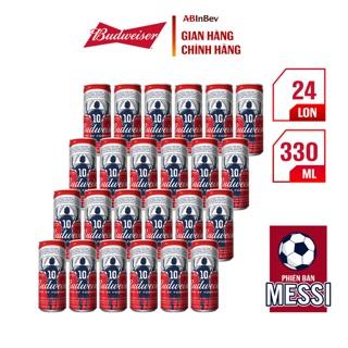 """Thùng 24 lon bia Budweiser (330ml/lon) - Lon cao - Phiên bản Messi giá chỉ còn <strong class=""""price"""">37.900.000.000đ</strong>"""