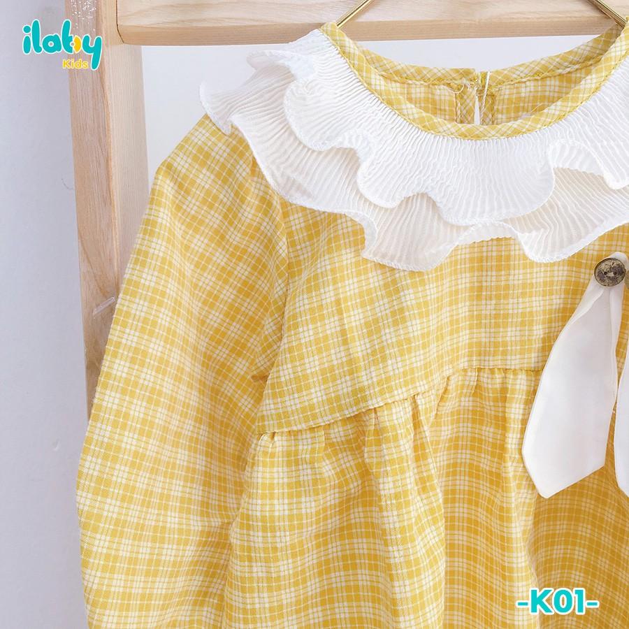 [Mã FARSBR7A giảm 10% đơn 99K] Váy trẻ em ILABY kẻ tai thỏ kèm chip cho bé từ 3 - 18 tháng tuổi [K01]