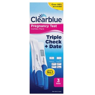Que thử thai Clearblue Pregnancy triple check date