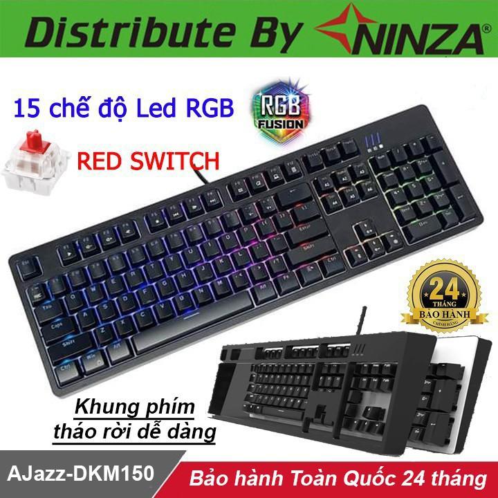 Bàn phím cơ AJAZZ DKM150 - Phím cơ AJAZZ DKM150 Red Switch Led RGB
