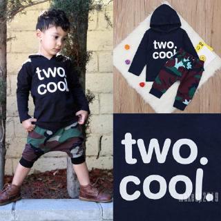 Mu♫-New Cool Baby Boy T-shirt Top+Long Pants Outfit Newborn Kids Summer Clothes Set