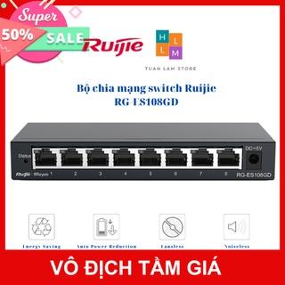 Bộ chia mạng switch Ruijie RG-ES108GD 8 cổng 10 100 1000BASE-T Vỏ kim loại thumbnail