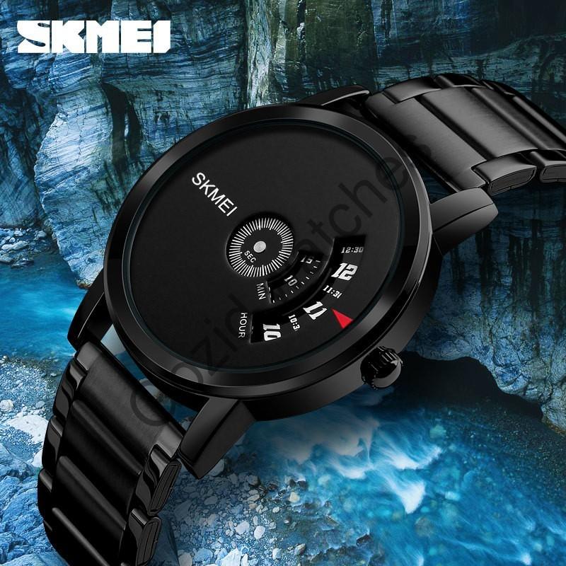 Đồng hồ nam thể thao SKMEI SM31 dây thép không gỉ , dáng thể thao chạy dọc độc đáo -Gozid.watches