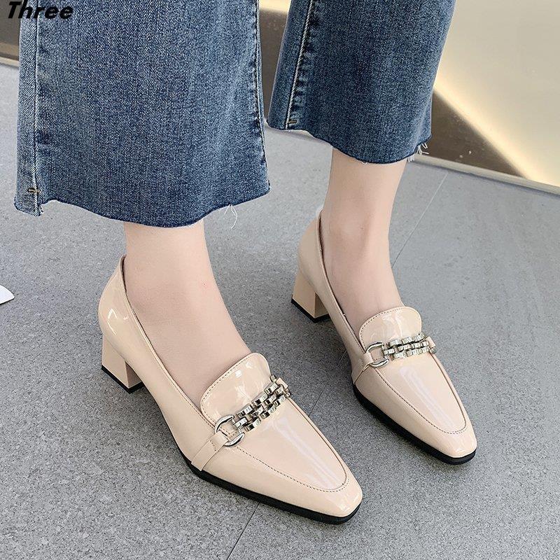 Giày Cao Gót Mũi Vuông Phong Cách Hàn Quốc Thời Trang Cho Nữ