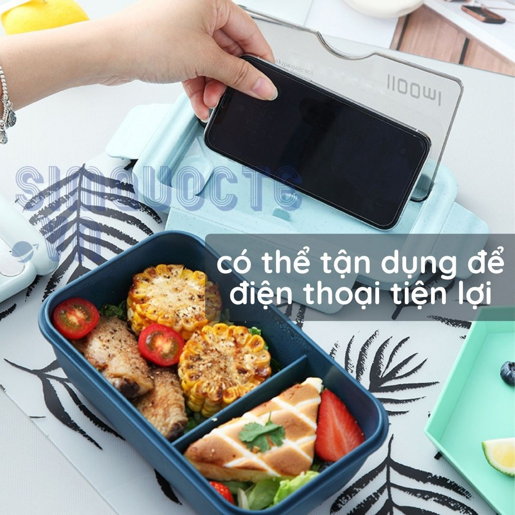 [Nhựa lúa mạch] Hộp cơm giữ nhiệt có van thông hơi không chứa BPA Lunch Box HĐC02