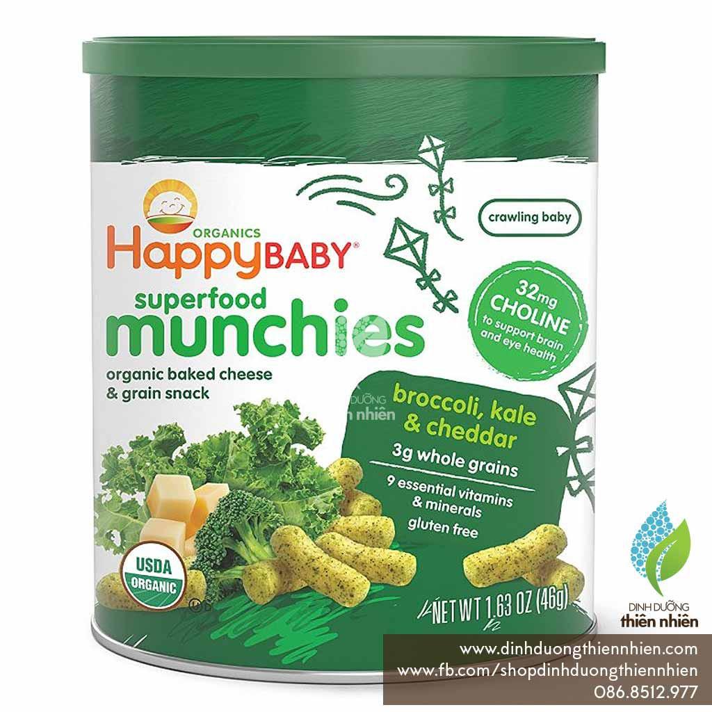 Bánh Ăn Dặm Hữu Cơ Happy Baby Munchies, vị Phô Mai, Kale & Bông Cải Xanh, 46g - 2483897 , 878019610 , 322_878019610 , 120000 , Banh-An-Dam-Huu-Co-Happy-Baby-Munchies-vi-Pho-Mai-Kale-Bong-Cai-Xanh-46g-322_878019610 , shopee.vn , Bánh Ăn Dặm Hữu Cơ Happy Baby Munchies, vị Phô Mai, Kale & Bông Cải Xanh, 46g