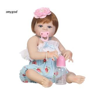 〖OMG〗3 Month Newborn Baby Doll Imitation Vinyl Silicone Reborn Girl Accompany Toy