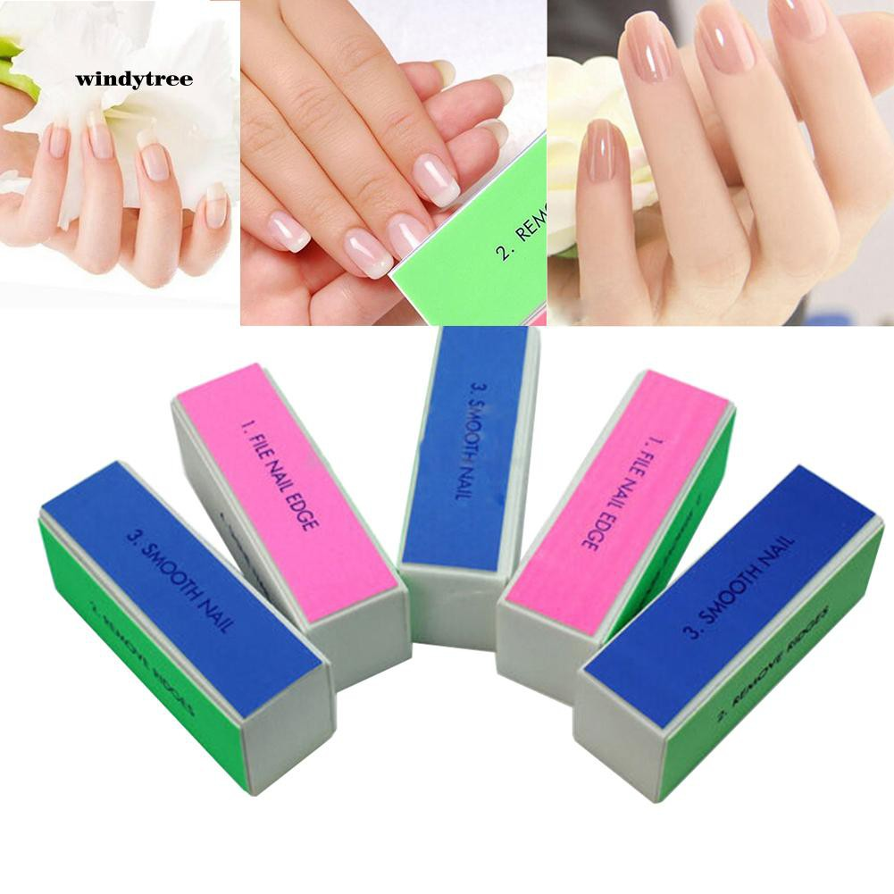 WDTE_1Pc Nail Art Shine Polished Buffer Sanding Manicure Tools Polishing Block