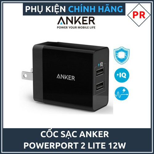 Cốc sạc Anker Power Port 2 Lite - 12W Chính hãng - 3121872 , 892426804 , 322_892426804 , 265000 , Coc-sac-Anker-Power-Port-2-Lite-12W-Chinh-hang-322_892426804 , shopee.vn , Cốc sạc Anker Power Port 2 Lite - 12W Chính hãng