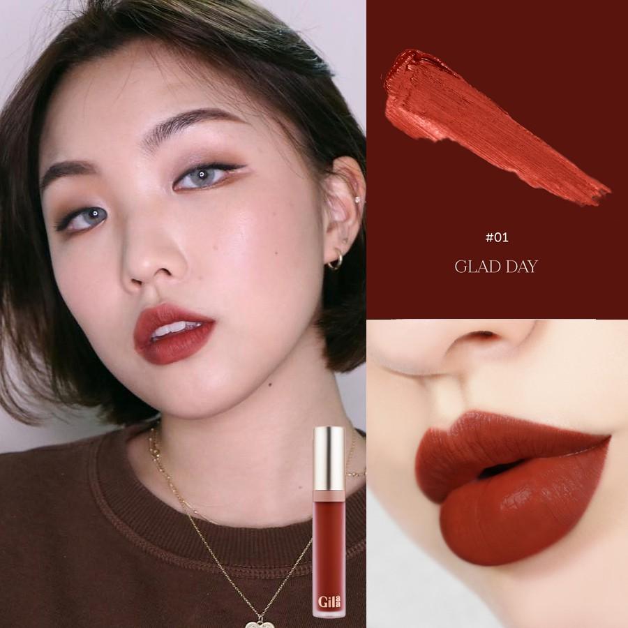 Kết quả hình ảnh cho Son kem Gilaa Long Wear Lip Cream - 01 Glad Day