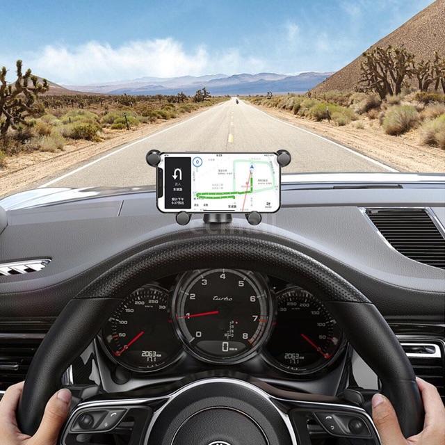 Giá đỡ điện thoại xe hơi baseus xoay 360 độ với 4 chân đỡ chắc chắn - Giá đỡ xe hơi kiểu dáng gọn