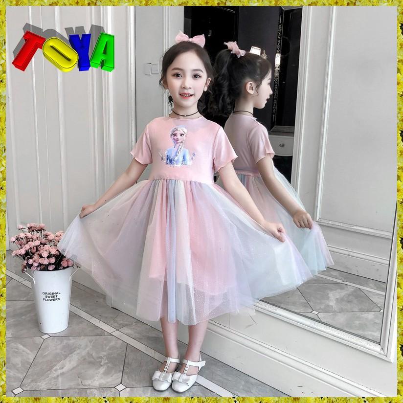 (Xả kho)  Váy nữ Elsa cho bé gái 13-38kg