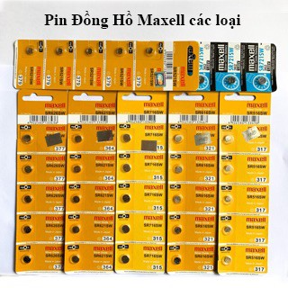Vỉ 5 viên Maxell SR626 / SR621 / SR716 / SR521 / SR616 / SR516 / SR721 / SR920 thay pin đồng hồ đeo tay