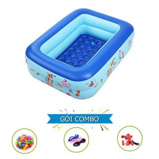 [HÀ NỘI] Bể phao bơm hơi cho bé 2 tầng 1m2 kèm 100 bóng kính bơi bơm điện