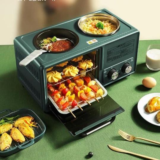 Bếp mini đa năng nhỏ gọn 3 trong 1 (lò nướng + chiên rán + hấp)