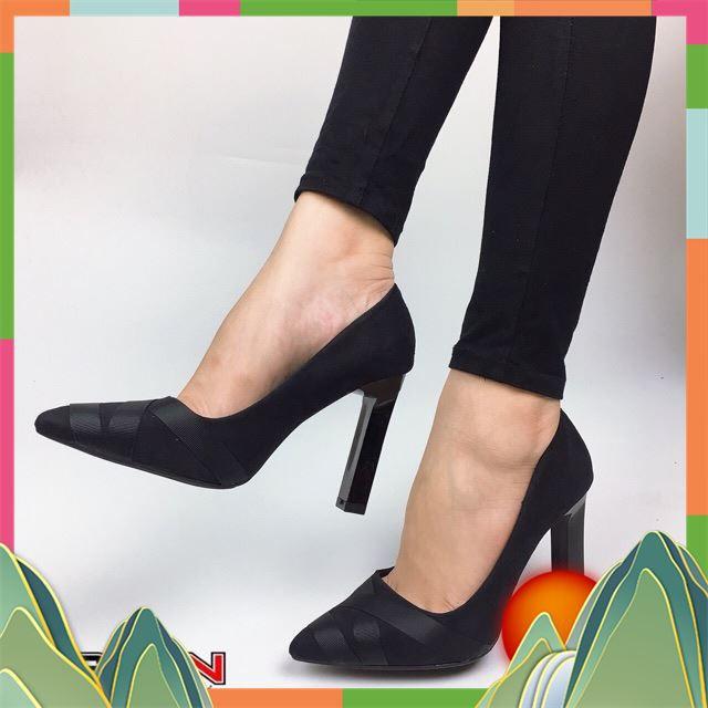[Deal Sốc] Giày cao gót dự tiệc 10cm da lộn Suvn