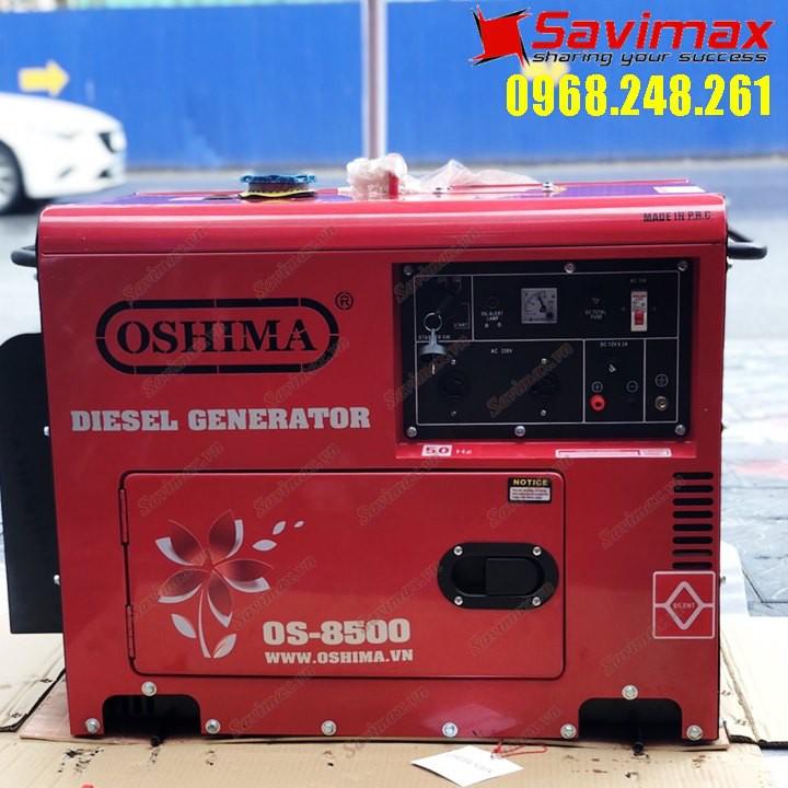 Máy phát điện chạy dầu 7KVA OSHIMA OS-8500 có đề nổ giá rẻ (TIẾT KIỆM NHIÊN LIỆU)