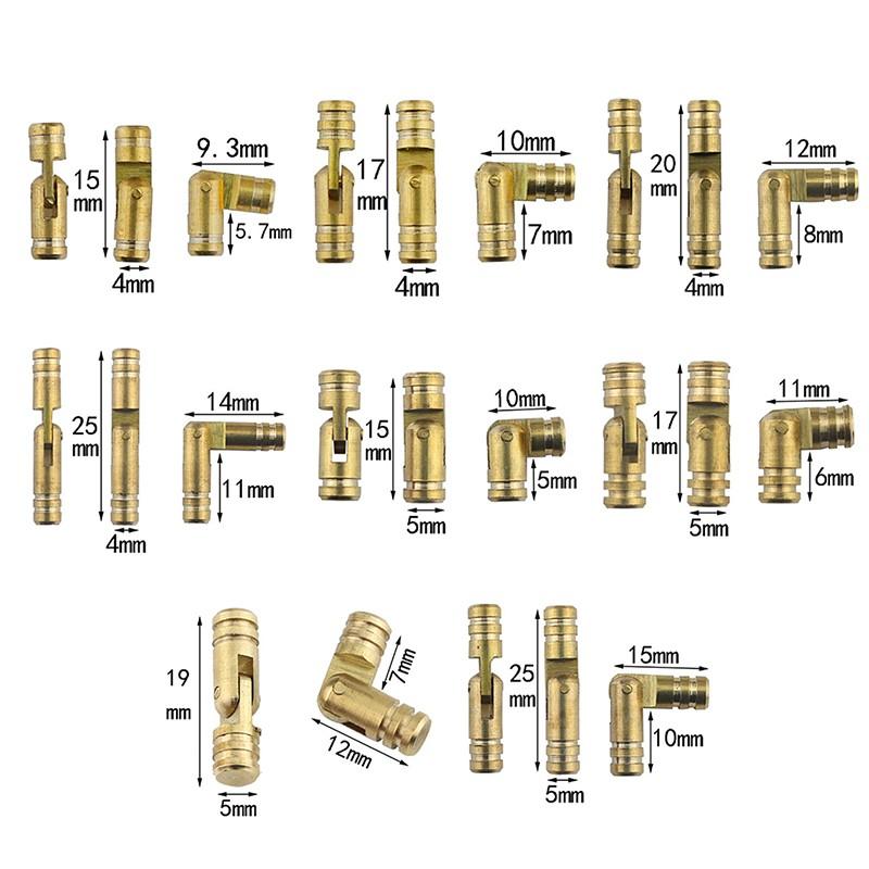 ωCOAω10Pcs copper brass jewelry box hidden invisible