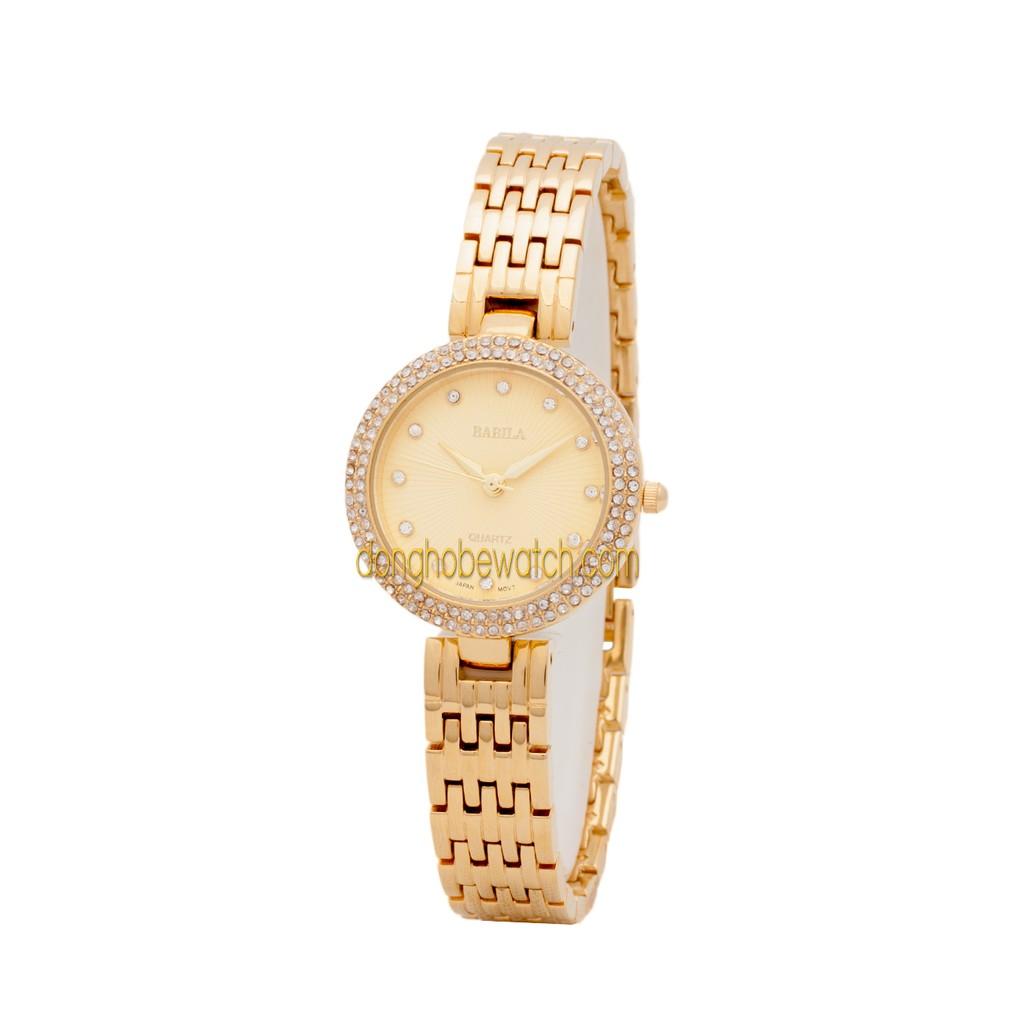 Đồng hồ nữ Babila BB145 dây kim loại vàng mặt vàng - 2447843 , 101479416 , 322_101479416 , 799000 , Dong-ho-nu-Babila-BB145-day-kim-loai-vang-mat-vang-322_101479416 , shopee.vn , Đồng hồ nữ Babila BB145 dây kim loại vàng mặt vàng