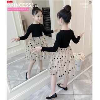 Váy thu đông bé gái lớn size đại - Váy bé gái - Váy cho bé gái lớn size đại hình ngôi sao xinh xắn.