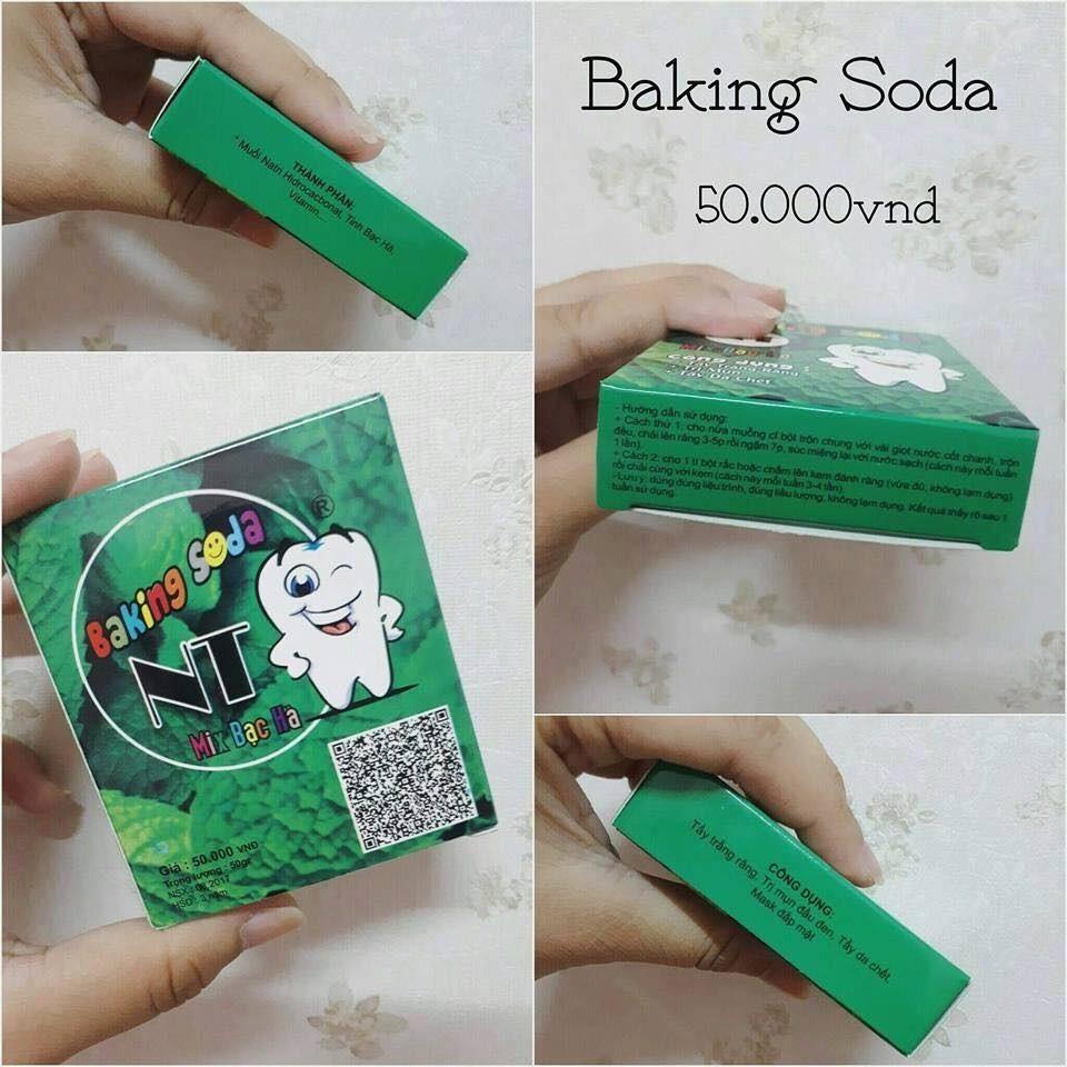 (CHÍNH HÃNG) Bột làm trắng răng Baking Soda NT 50g/gói