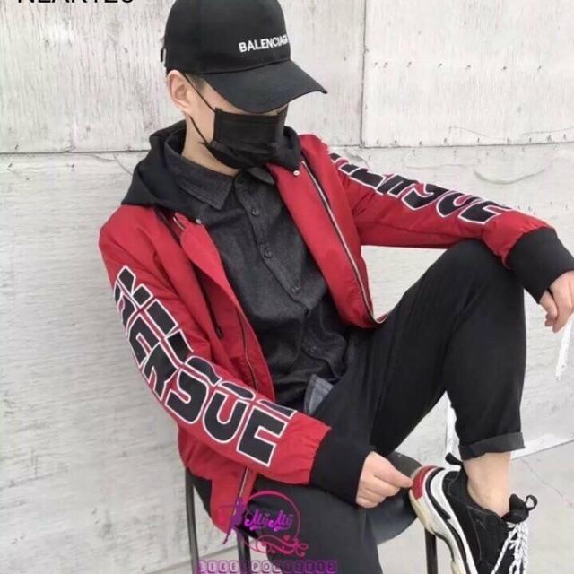 Áo khoác dù nam hoạ tiết thời trang tcs kd031