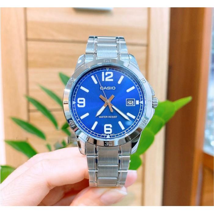 Đồng hồ nam dây kim loại Casio Anh Khuê MTP-V004D-2BUDF