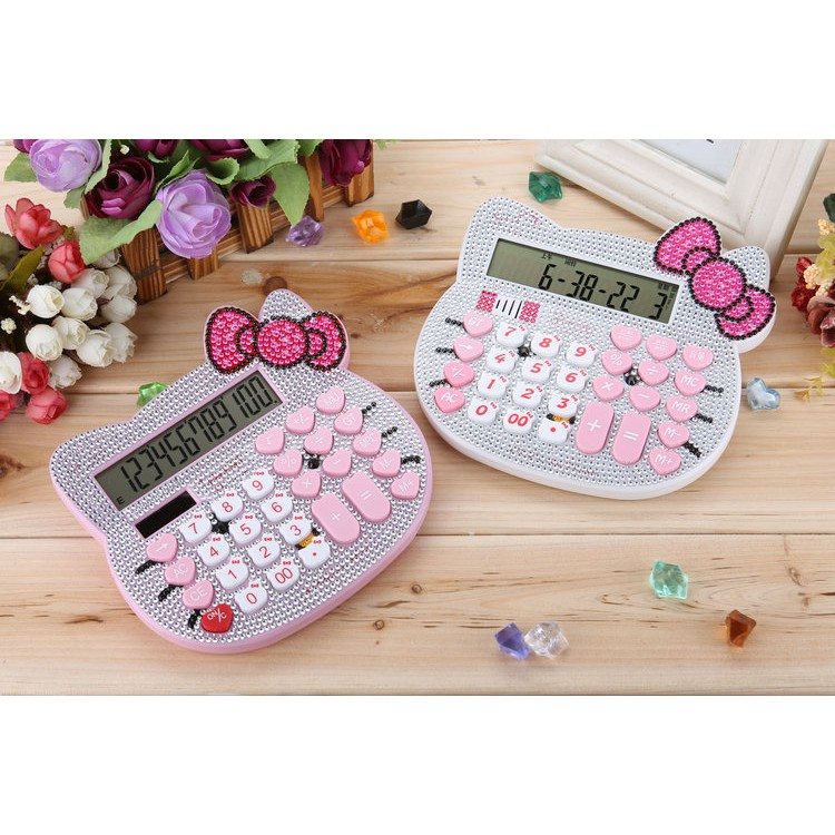 Máy tính kitty đính đá siêu xinh cho bé - 2970340 , 1065339430 , 322_1065339430 , 228000 , May-tinh-kitty-dinh-da-sieu-xinh-cho-be-322_1065339430 , shopee.vn , Máy tính kitty đính đá siêu xinh cho bé
