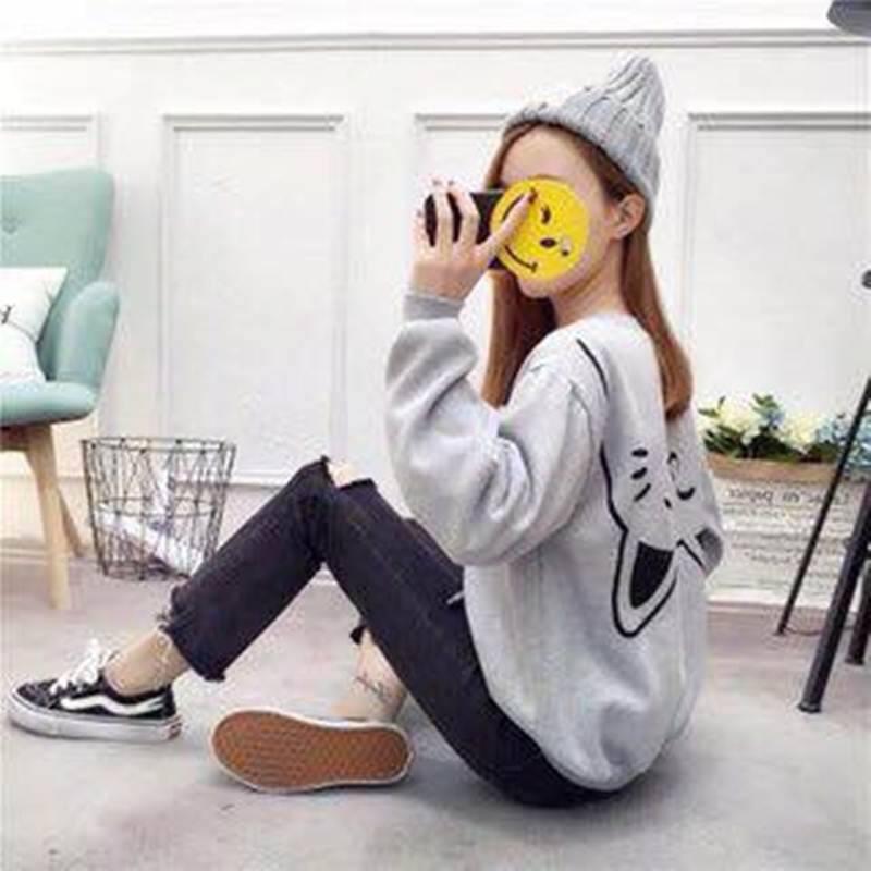 [Kèm hình thật] Sweater hình mèo ngược