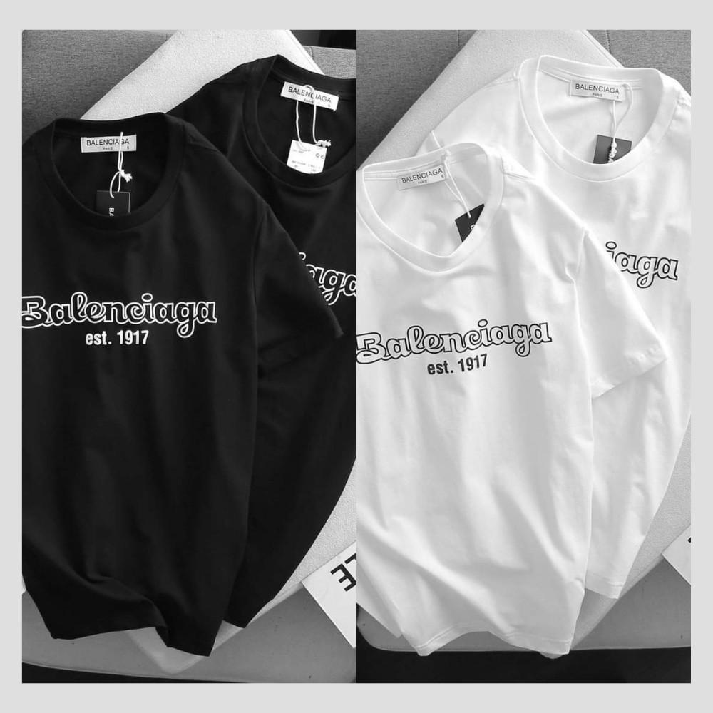 Áo thun nam nữ tay lỡ Balenciaga chất liệu cotton 35/65 thoáng mát - áo phông unisex