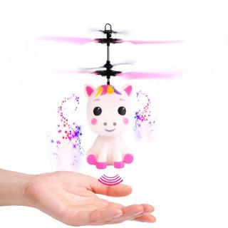 Flying Unicorn Toy with LED Light Hand Controlled Unicorn Helicopter Toy