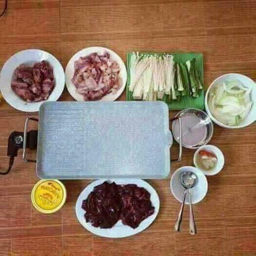 Bếp nướng điện vân đá chống dính cao cấp