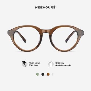 Gọng kính cận nữ WeeHours LIT , dáng tròn thời trang, nhựa Acetate cao cấp thumbnail