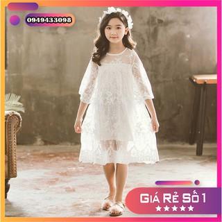 [ Hàng thiết kế ] Váy công chúa ren hoa trắng cho bé gái cực đáng yêu