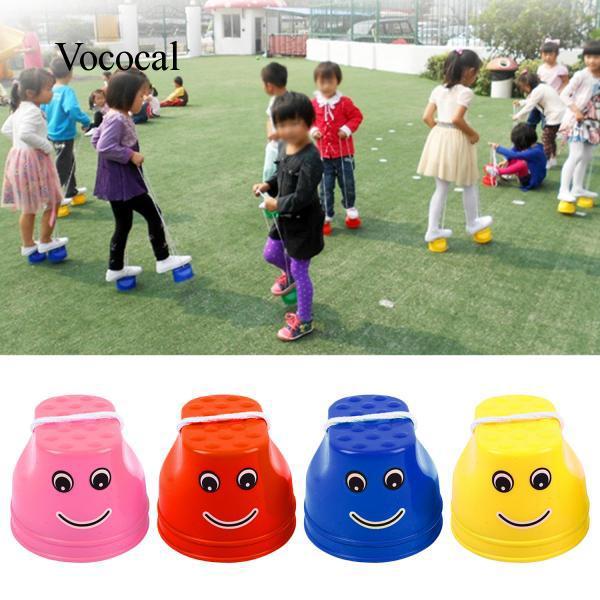 Vococal 1 Pair Plastic Walking Stilts Shoes Kids Children Outdoor Sport Toy