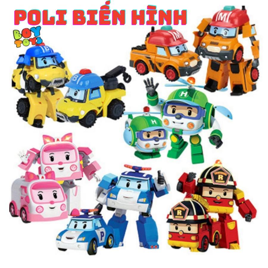 Đồ chơi biến hình biệt đội Robocar Poli 2 trong 1 cho bé thỏa sức sán
