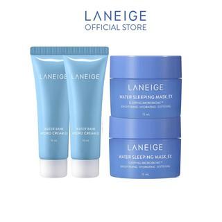 [HB GIFT] Combo cấp ẩm nâng niu làn da Hydro Cream 10mlx2 và Water Sleeping Mask 15mlx2 Laneige thumbnail