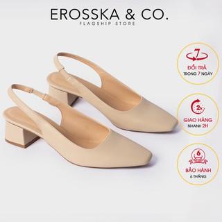 Carl & Ane - Giày cao gót phối dây quai mảnh cao 5cm màu nude - EL016