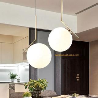 Đèn thả cầu thủy tinh trang trí bàn ăn, phòng ngủ, quầy bar kiểu dáng hiện đại